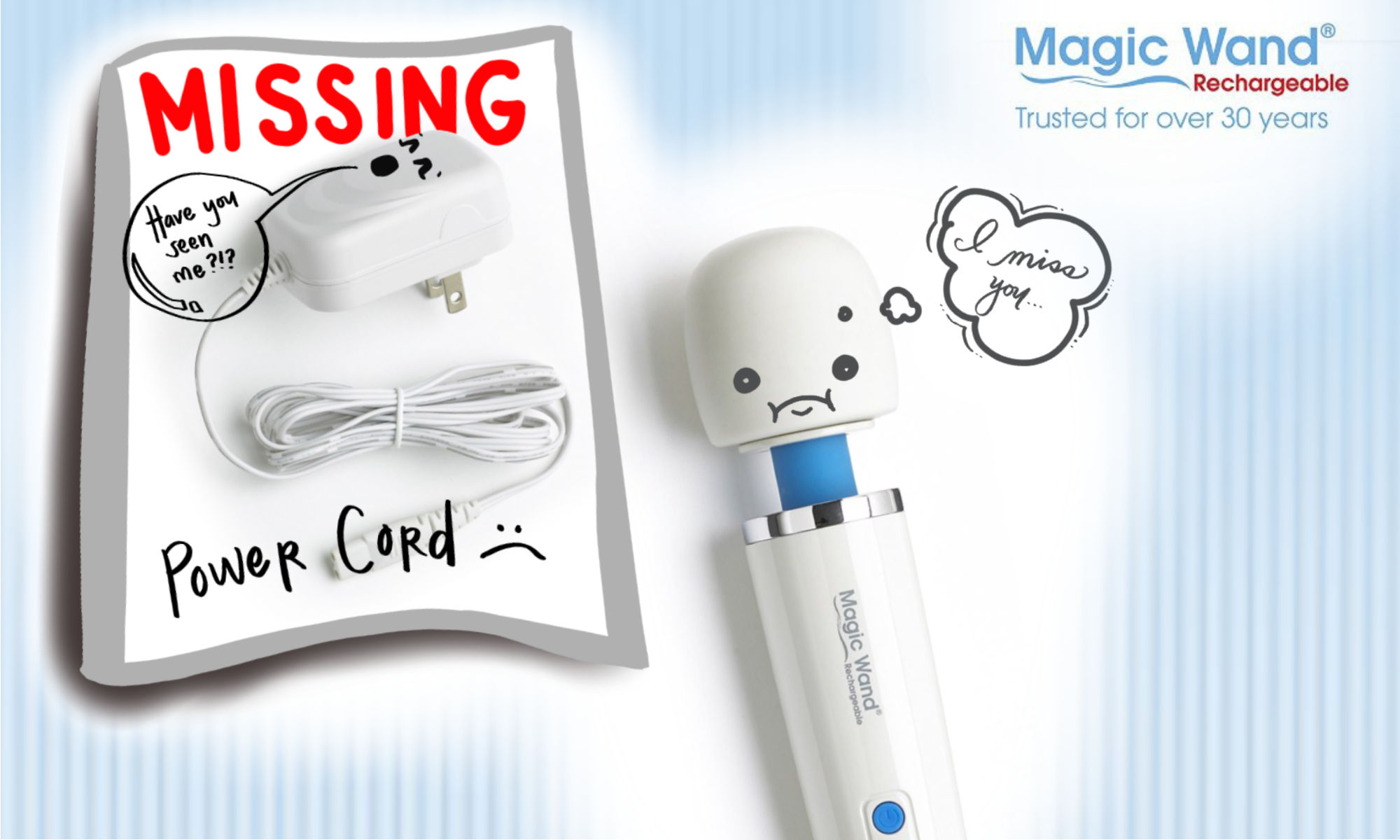 """""""I lost my Magic Wand charging cord when I moved, where can I get a replacement?"""""""